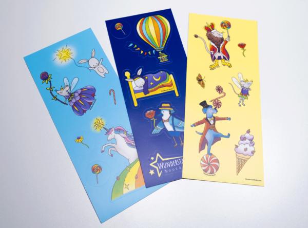3 vinyl animal sticker sheets