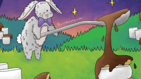 Moon Pie Illustration Detail