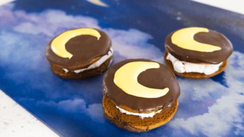 Decorated Moon Pie